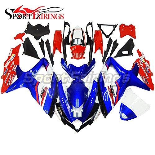 Sportfairings Complete Motorbike Fairing Kit For Suzuki GSX-R750600 GSXR600750 GSX-R 600 750 Year 2008 2009 2010 K8 Full Cover Red Blue No11 Bodywork