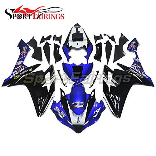 Sportfairings Complete Motorbike Fairing Kit For Yamaha YZF-1000 YZF-R1 R1 2007 2008 Year 07-08 Full Cover Blue Black No1 Panels