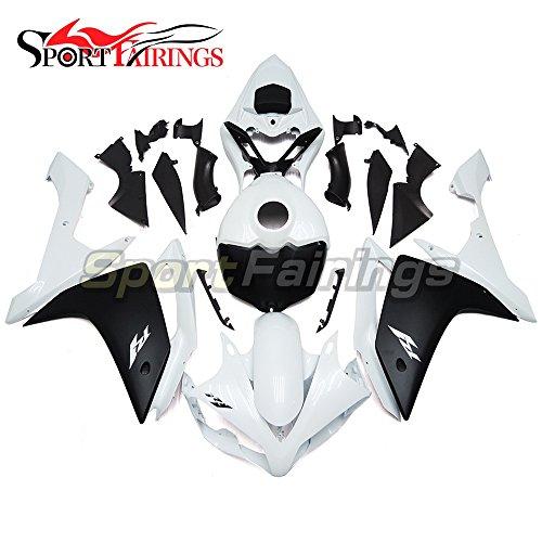 Sportfairings Complete Motorbike Fairing Kit For Yamaha YZF-1000 YZF-R1 R1 2007 2008 Year 07-08 Full Cover White Black Matte