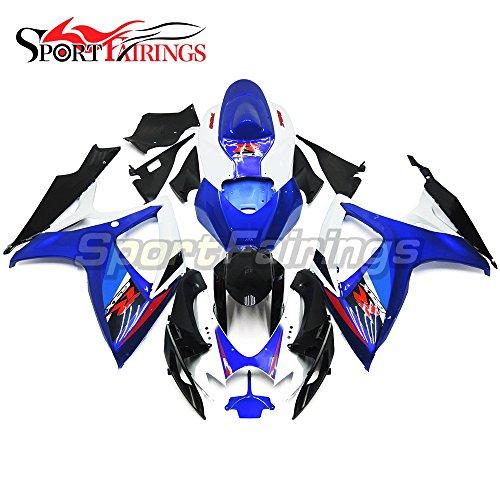 Sportfairings Motorbike Fairing Kit Fit Suzuki GSX-R750 GSX-R600 GSXR 600 750 Year 2006 2007 K6 Bodywork Injection ABS White Blue