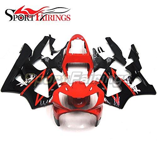 Sportfairings Motorbike Fairing Kit For Honda CBR900RR CBR900 CBR929 RR 00-01 Year 2000 2001 Injection ABS Red Black Carene