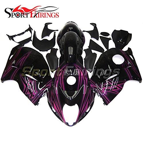 Sportfairings Motorbike Fairing Kit For Suzuki GSX-R 1300 GSXR-1300 Hayabusa 1997 1998 1999 2000 2001 2002 2003 2004 2005 2006 2007 ABS Cowls Black Purple Flames