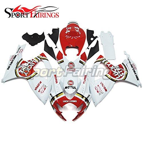 Sportfairings Motorbike Fairing Kit For Suzuki GSX-R750 GSX-R600 GSXR 600 750 Year 2006 2007 K6 Bodywork Injection ABS Plastic Red White