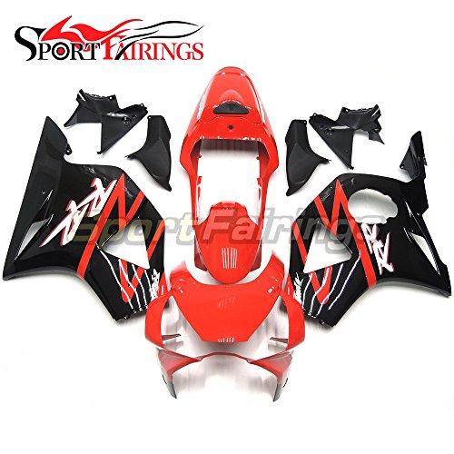 Sportfairings Motorbike Fairing Kits For Honda CBR900RR CBR954RR 2002 2003 ABS Injection Bodyworks Red Gloss Black
