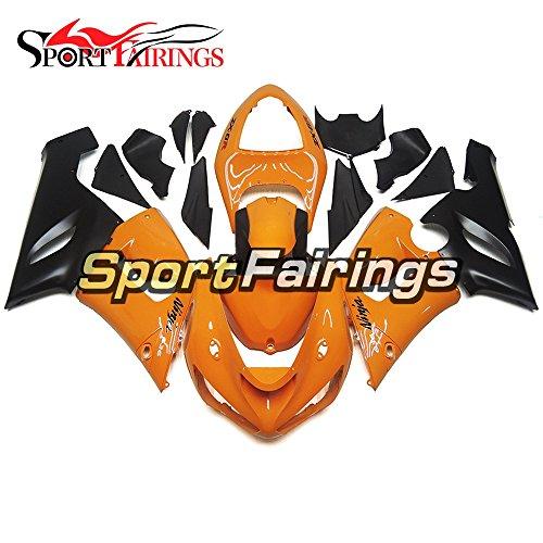 Sportfairings Black Orange Motorcycle Fairing Kits For Kawasaki ZX6R Ninja636 Year 2005 2006 Plastics Injection ABS Fairings Motorbike Cowling