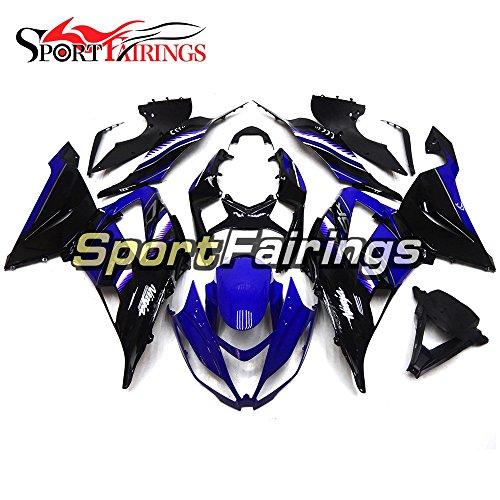 Sportfairings Fairing Kits For Kawasaki ZX6R Ninja636 Year 2013 - 2016 13 14 15 16 Black Blue Injection Plastics ABS Motorcycle Bodywork Cowling