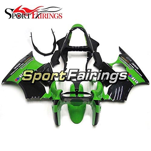 Sportfairings Green Black ABS Plastics Injection Motorcycle Fairing Kits For Kawasaki ZX6R Ninja636 Year 2000 2001 2002 Fairings Cowling