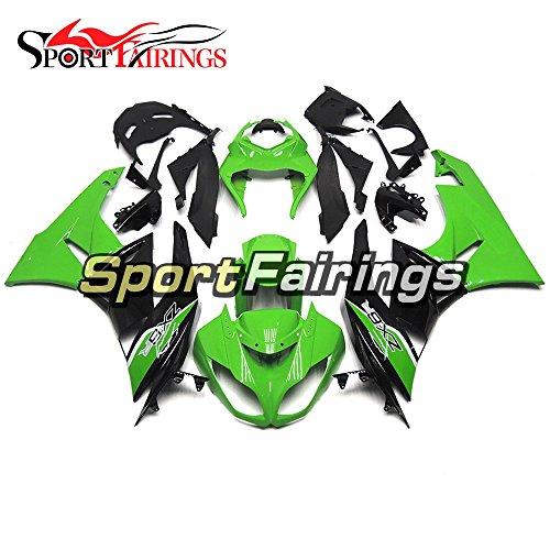 Sportfairings Green Black Injection Plastics ABS Motorcycle Fairing Kits For Kawasaki ZX6R Ninja636 Year 2009 2010 2011 2012 Motorbike Bodywork