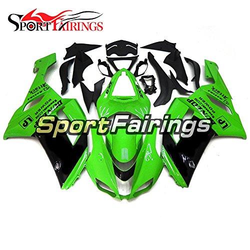 Sportfairings Green Black Motorcycle Fairing Kits For Kawasaki ZX6R Ninja636 Year 2007 2008 ABS Plastics Injection Motorbike Cowling Bodywork