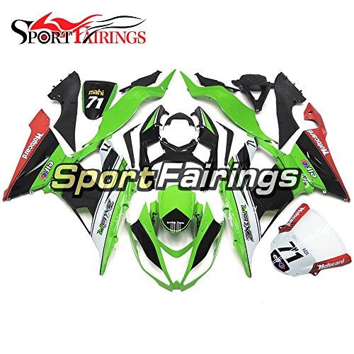 Sportfairings Green Red Black Injection ABS Plastics Motorcycle Bodywork For Kawasaki ZX6R Ninja636 Year 2013 - 2016 13 14 15 16 Motorbike Fairings Body Frames