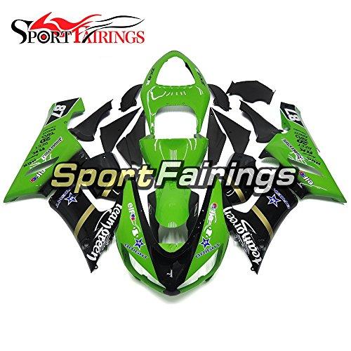 Sportfairings Motorcycle Body Frames For Kawasaki ZX6R Ninja636 Year 2005 2006 Team Green 87 Injection ABS Plastics Motorbike Cowlings Fairing