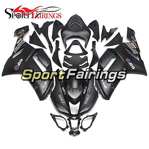 Sportfairings Motorcycle Cowling For Kawasaki ZX6R Ninja636 Year 2005 2006 Black Matte ABS Plastics Injection Fairings Cowling Bodywork