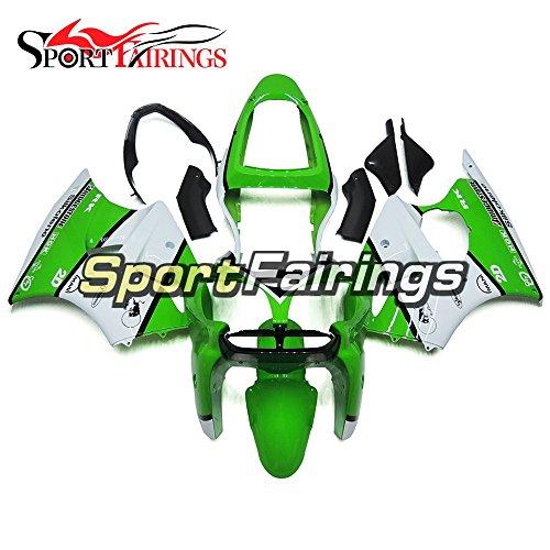 Sportfairings ABS Plastics Injection Green White Motorcycle Fairing Kits For Kawasaki ZX6R Ninja636 Year 2000 2001 2002 Motorbike Bodywork