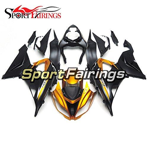 Sportfairings Gold Black Motorcycle Fairing Kits For Kawasaki ZX6R Ninja636 Year 2013 - 2016 13 14 15 16 ABS Injection Plastics Motorbike Bodywork