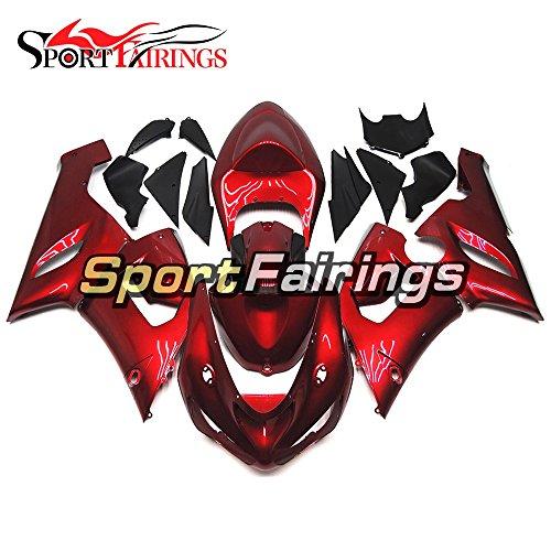 Sportfairings Injection ABS Plastics Pearl Red Motorcycle Fairing Kits For Kawasaki ZX6R Ninja636 Year 2005 2006 Cowlings Motorbike Bodywork