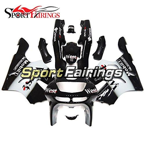 Sportfairings Plastic ABS Fairings For Kawasaki ZX6R Ninja636 Year 1994 1995 1996 1997 West Black White Motorbike Bodywork Body Frames