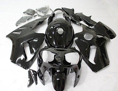 ZXMOTO Motorbike Bodywork Fairing Kit For Kawasaki Ninja ZX12R 2000 2001 Painted Glossy Black