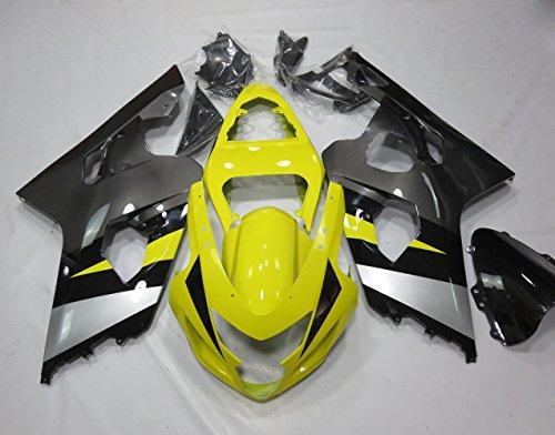 ZXMOTO Motorbike Bodywork Fairing Kit for Suzuki GSX-R 600 GSXR 750 2004-2005 Painted