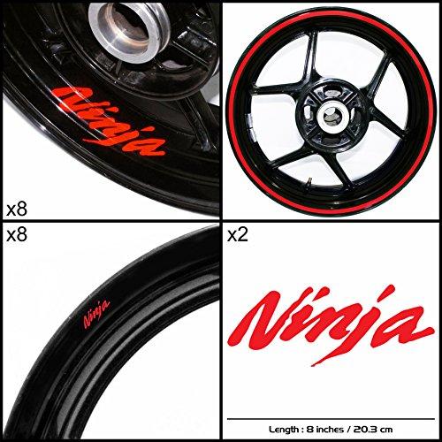 Stickman Vinyls Kawasaki Ninja Motorcycle Decal Sticker Package Reflective Red Graphic Kit