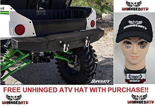 Bundle 2 items Super ATV Kawasaki Teryx Diamond Plate Rear Bumper and FREE Unhinged ATV Hat