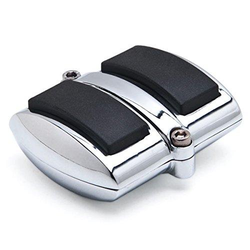 Krator Chrome Brake Pedal  Heel Shift Pad Cover Rubber For Kawasaki Vulcan 900 Classic 2006-2013 Heel Shift