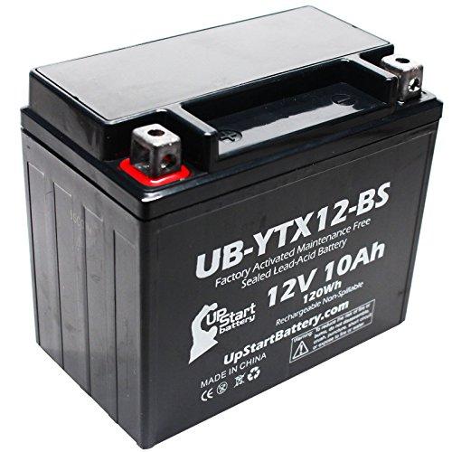 Replacement 2007 Kawasaki Ninja 650R 650 CC Factory Activated Maintenance Free Motorcycle Battery - 12V 10Ah UB-YTX12-BS