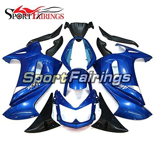 Sportfairings Plastic ABS Fairing kits For Kawasaki Ninja 650R ER-6F Year 2006 2007 2008 Blue Full Motorbike Cowling Bodywork
