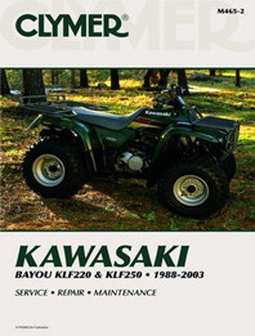 1993-1999 KAWASAKI KLF400 BAYOU SERVICE MANUAL KAWASAKI Manufacturer CLYMER Manufacturer Part Number M467-AD Stock Photo - Actual parts may vary