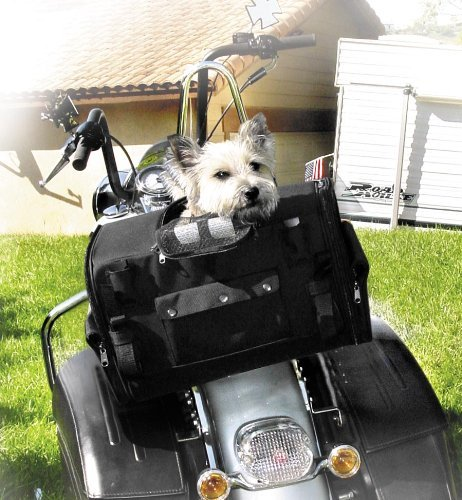 T-Bags Pet Carrier Tail Bag for Harley Davidson Touring and Honda Gold Wing