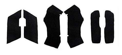 Black Saddlebag Carpet Liner Kit For 2014+ New Design Harley-davidson Hard Saddlebags Touring Bikes Electra-glide