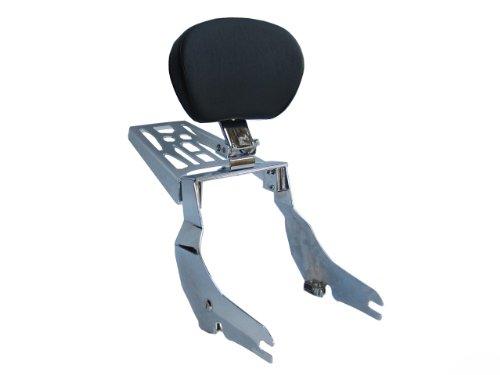 Detachable Adjustable Sissybar w Backrest Luggage Rack for 07 Yamaha V-Star 950 1300