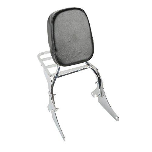 XFMT Backrest Detachable Sissy Bar W Luggage Rack Backrest For Kawasaki Vulcan VN 400 800 1995 -2012