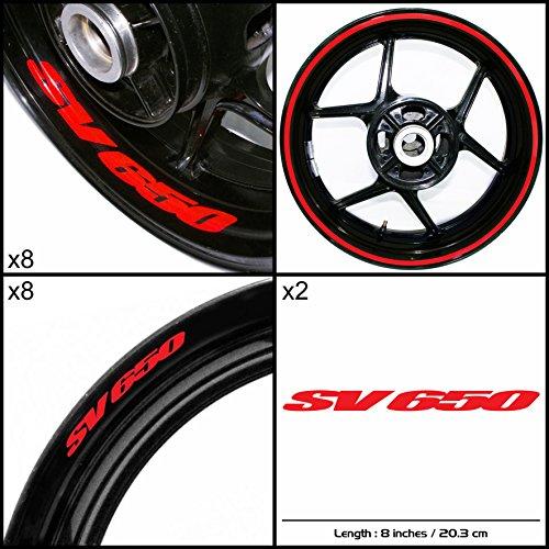 Stickman Vinyls Suzuki SV 650 Motorcycle Decal Sticker Package Reflective Red Graphic Kit