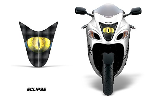 AMR Racing Sport Bike Headlight Eye Graphic Decal Cover for Suzuki Hayabusa 1300 08-14 - Eclipse Yellow