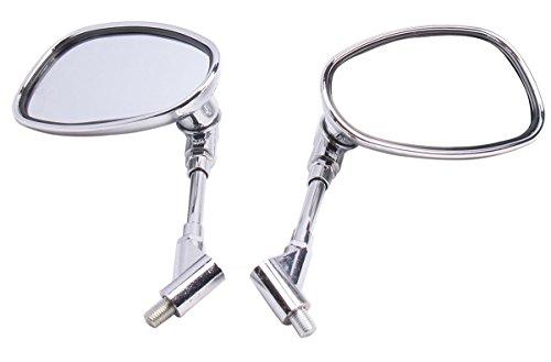 Big Chrome Oval Mirrors for 2013 Suzuki Boulevard C50