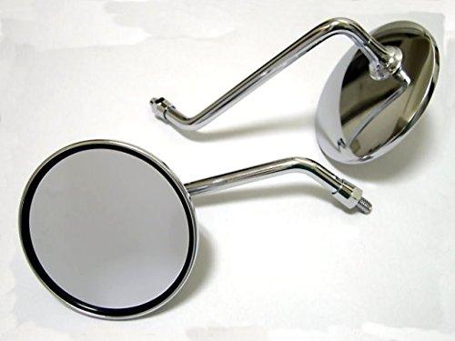 Yamaha Aerox jog Scooter 8mm thread Chrome Mirrors