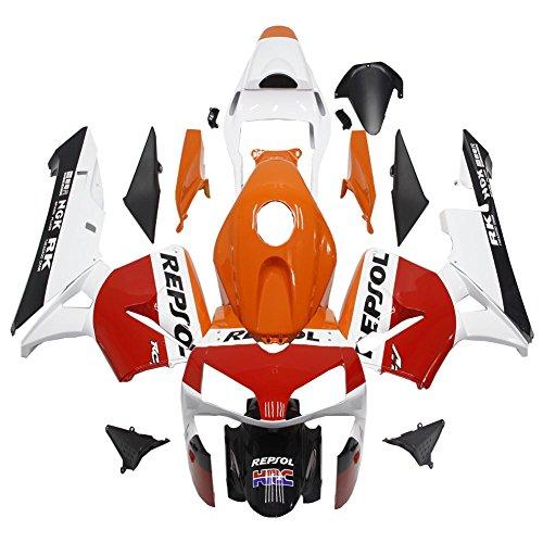 Red White Orange Fairing Fit for Honda 2003 2004 CBR600RR F5 ABS Plastic Bodywork a03