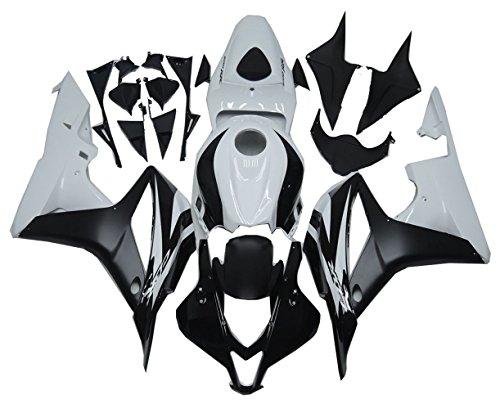 Bodywork Fairing Kit Fit for Honda 2007 2008 CBR600RR F5 Black White Plastic
