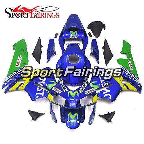 Sportfairings Blue Yellow Stripes Injection ABS Plastic Motorcycle Fairing Kits For Honda CBR600RR F5 Year 2003 2004 Hulls