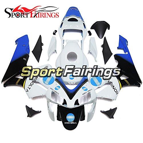 Sportfairings Complete Injection ABS Plastic White Blue Black Motorcycle Fairings For Honda CBR600RR F5 Year 2003 2004 Fairing Kits