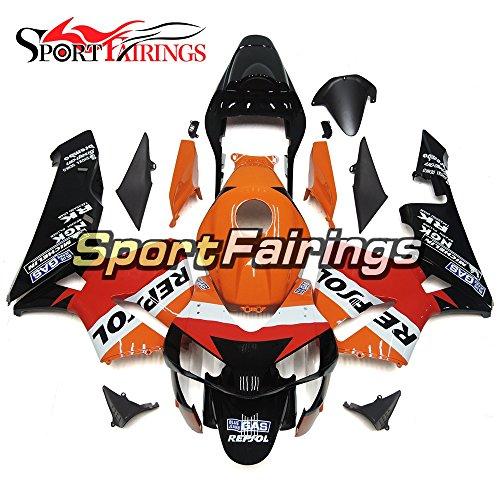 Sportfairings Full Injection ABS Plastic Fairing Kits For Honda CBR600 CBR600RR F5 Year 2003 2004 One Heart Orange