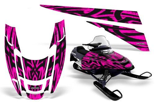CreatorX Polaris Edge Sled Snowmobile Graphics Kit Wrap Tribal Madness Pink