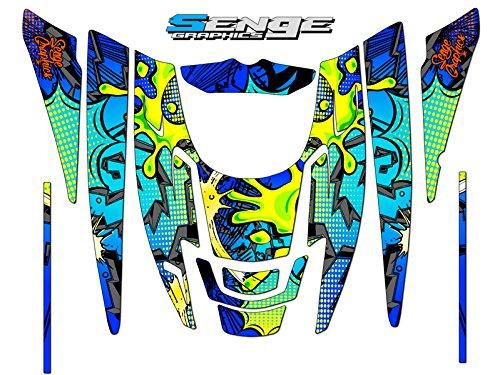 Senge Graphics 1999-2010 Polaris EDGE Zany Blue graphics kit