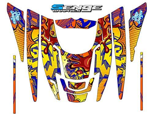 Senge Graphics 1999-2010 Polaris EDGE Zany Orange graphics kit