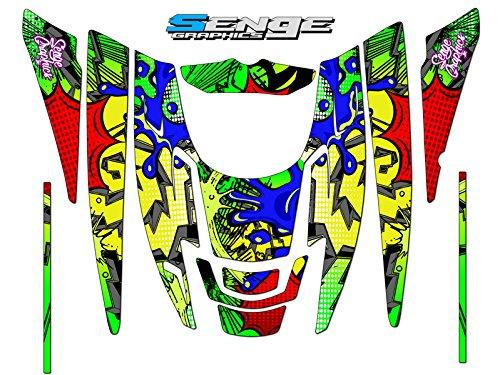 Senge Graphics 1999-2010 Polaris EDGE Zany Yellow graphics kit