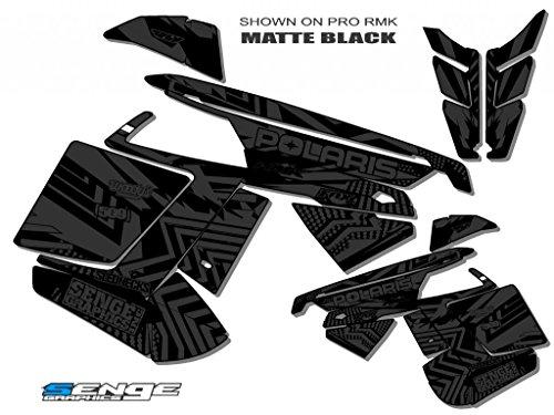 Senge Graphics ALL YEARS Polaris Edge Mayhem MATTE Black Sled Wrap