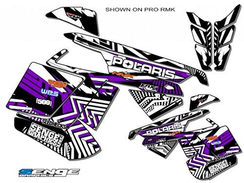 Senge Graphics ALL YEARS Polaris Edge Mayhem Purple Sled Wrap