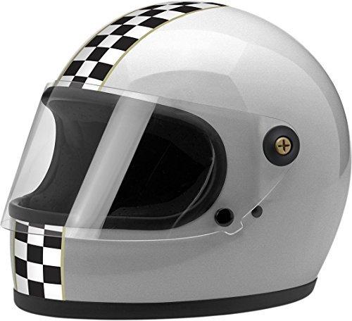 BILTWELL Gringo S Helmet Plastic-Polycarbonate Checker Gloss Silver Large