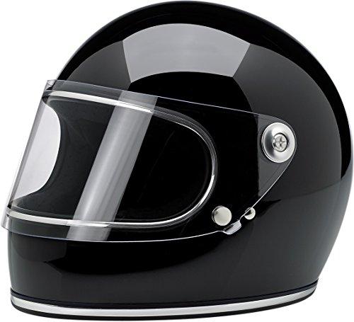 BILTWELL Gringo S Helmet Plastic-Polycarbonate Solid Gloss Black X-Small