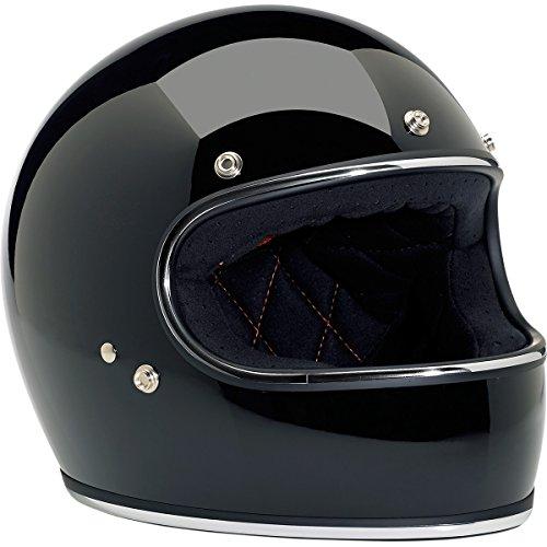 Biltwell Gringo Full Face Motorcycle Helmets Gloss Black- Large